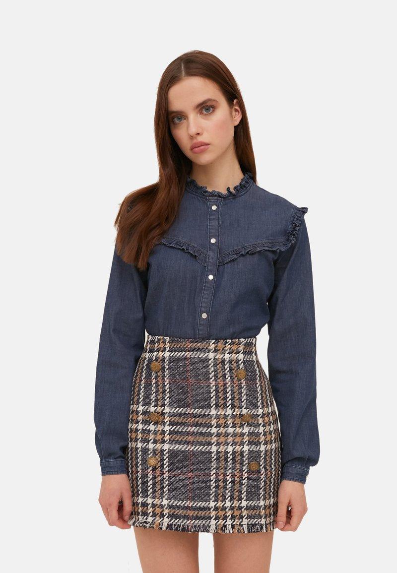 Motivi - Button-down blouse - blu