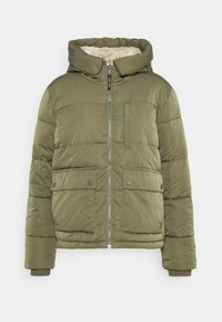 Tommy Jeans - HOODED JACKET - Winter jacket - olive tree - 4
