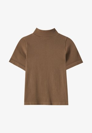 T-shirt con stampa - dark brown