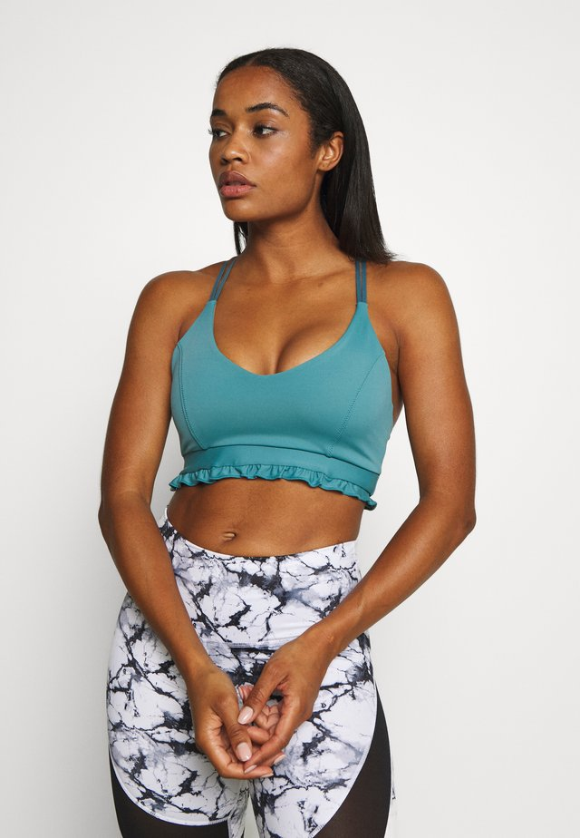 SILHOUETTE CROP - Sport-bh met light support - teal