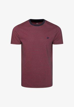 MET STRUCTUUR - Print T-shirt - purple