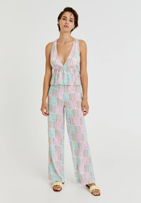 PULL&BEAR - Trousers - turquoise - 1