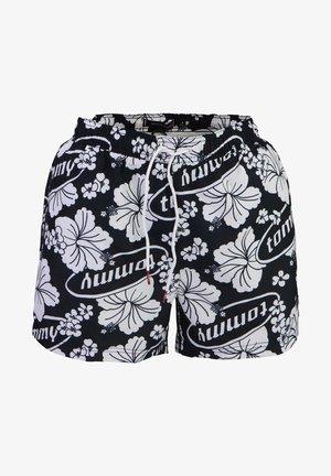 MIT TUNNELZUG MUSTER SCHWARZ - Swimming shorts - schwarz