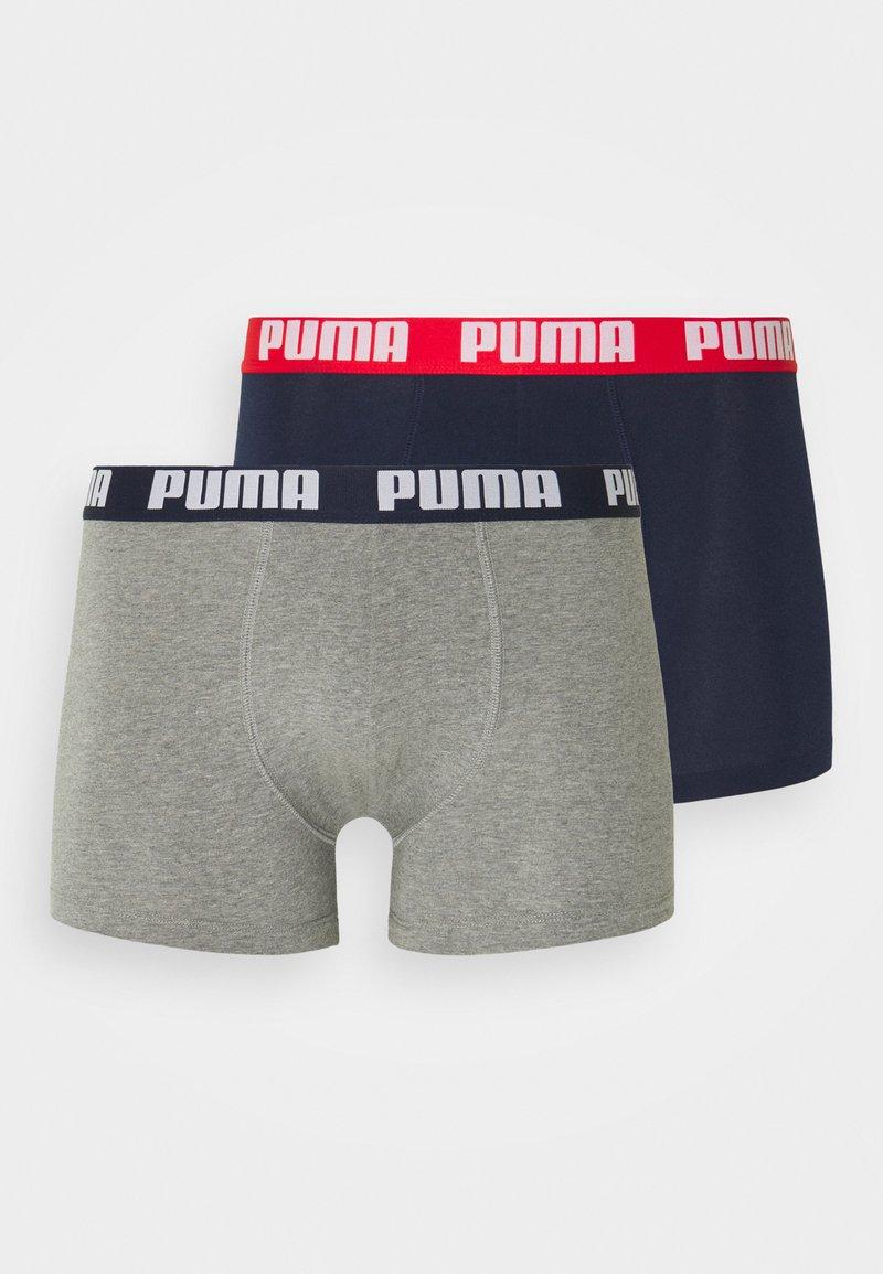 Puma - BASIC BOXER 2 PACK - Culotte - blue/grey melange