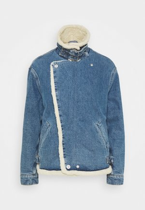 MOTO JACKET - Denim jacket - mid blue