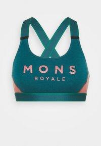 Mons Royale - STELLA X BACK BRA - Sport-BH mit leichter Stützkraft - deep teal/pink clay - 0