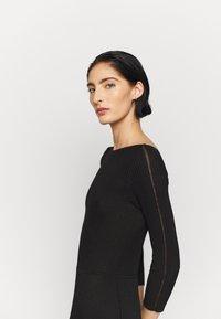 Patrizia Pepe - DRESS SEE THROUGH - Jumper dress - nero - 3