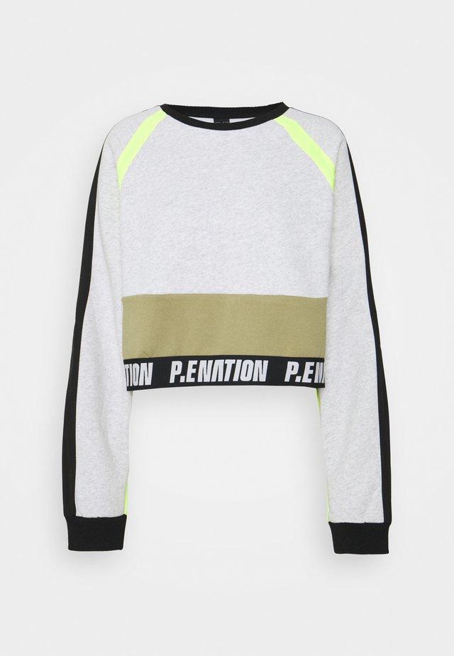 OPPONENT - Sweatshirt - mottled light grey