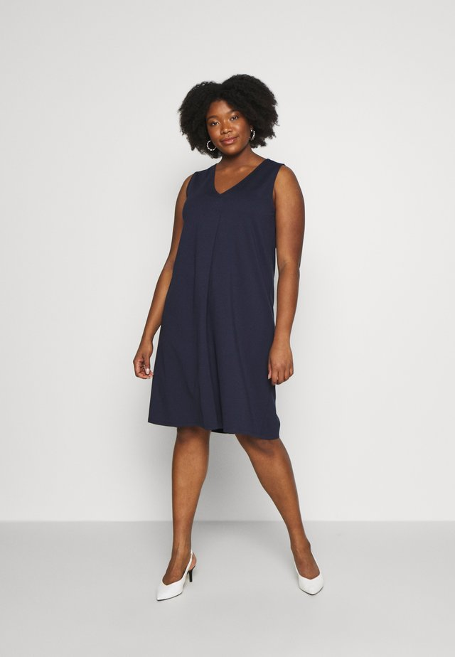 Jersey dress - real navy blue