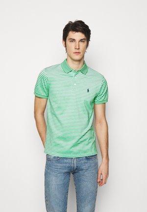 OXFORD - Polo shirt - golf green/white