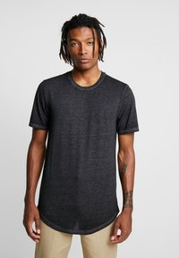 Only & Sons - ONSLONE LONGY BURNOUT TEE - T-shirts - phantom - 2