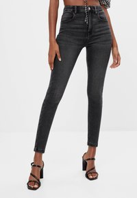 Bershka - Jeans Skinny - black denim - 0
