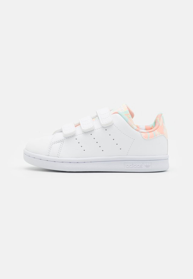 STAN SMITH CF UNISEX - Trainers - footwear white/haze coral