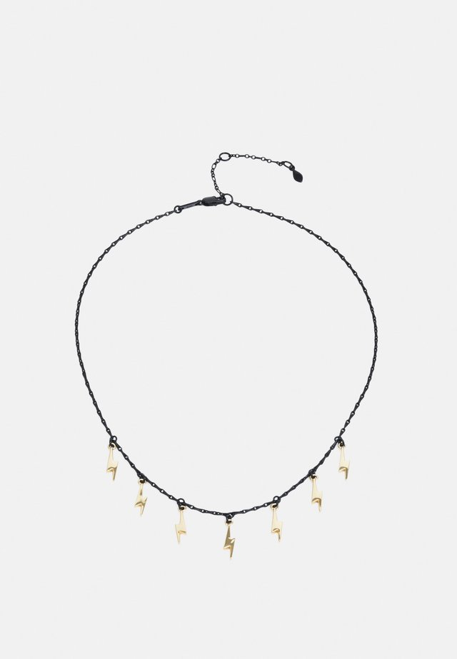 LIGHTNING BOLT DROP NECKLACE - Collana - gold-coloured/gunmetal