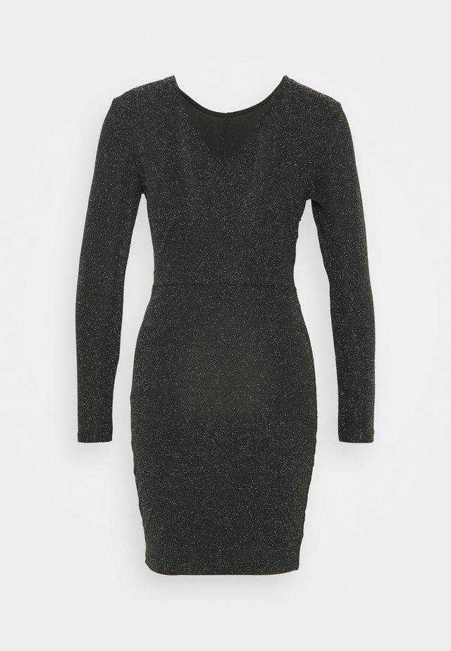ONLNEW QUEEN GLITTER TWIST - Sukienka koktajlowa - black/silver
