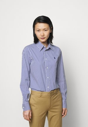 STRETCH - Button-down blouse - navy/white