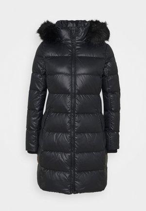 ESSENTIAL REAL COAT - Piumino - black