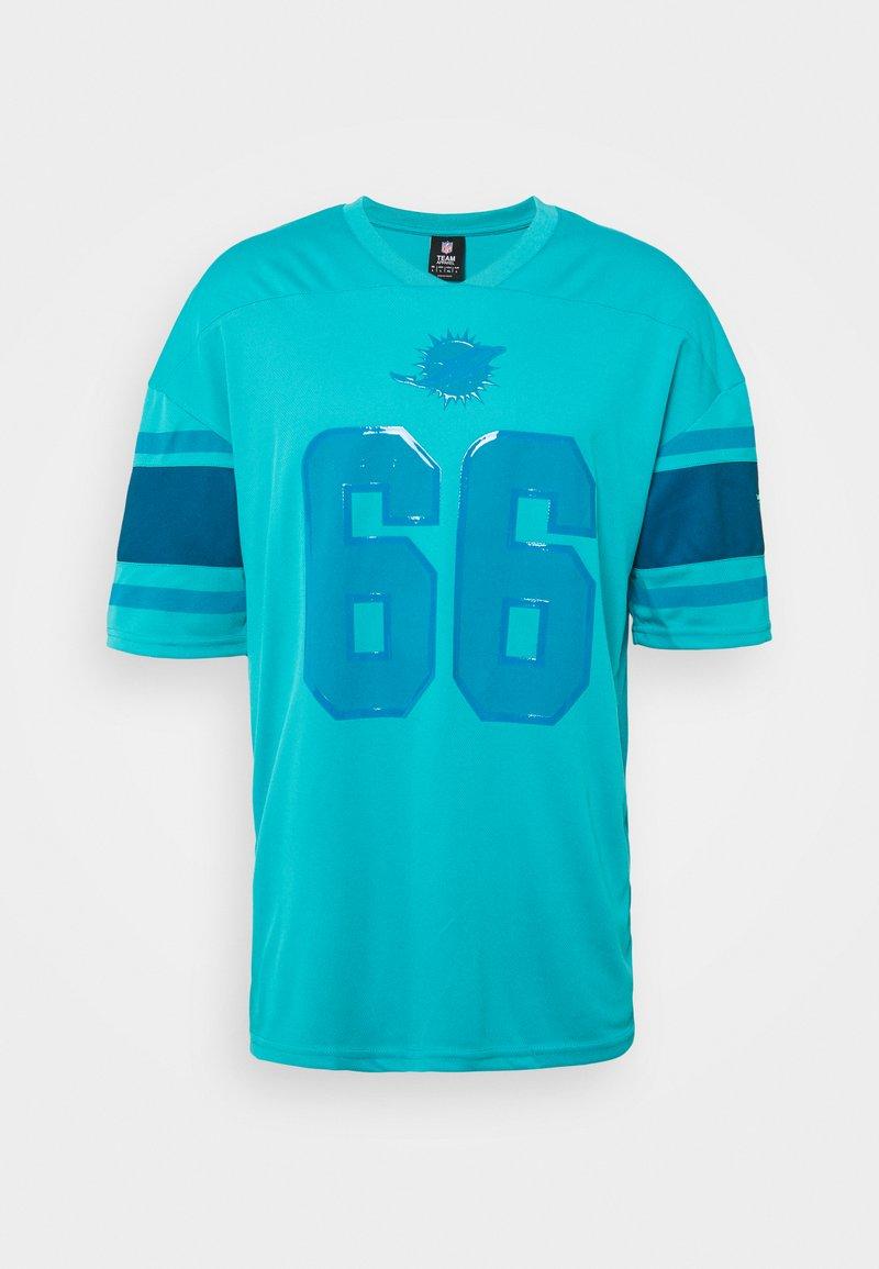 Fanatics - NFL MIAMI DOLPHINS FRANCHISE FASHI - Print T-shirt - aqua