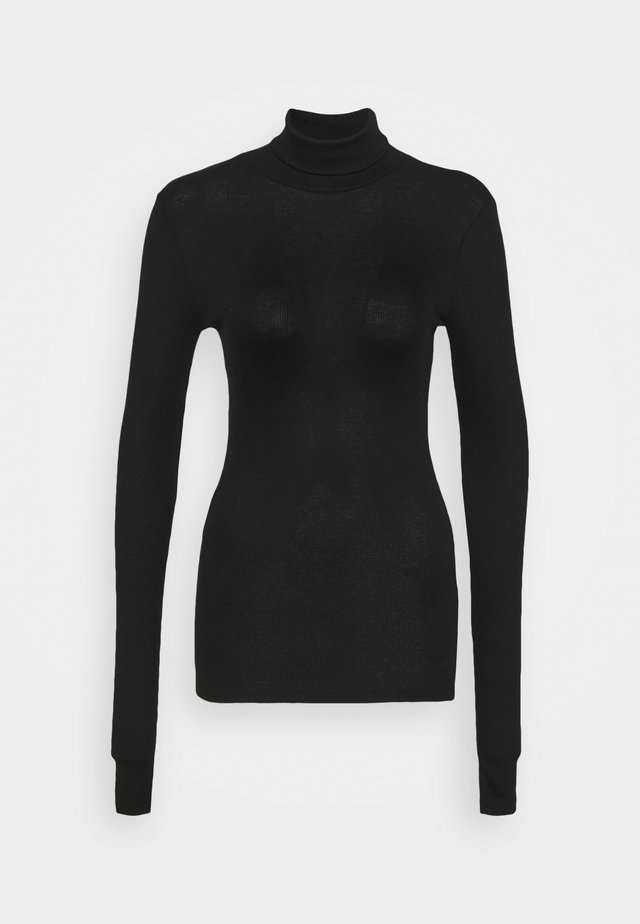 PCBIRDIE HIGH NECK - Long sleeved top - black