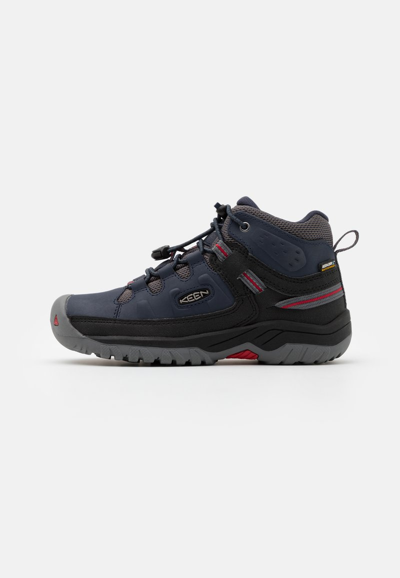 Keen - TARGHEE MID WP - Hiking shoes - blue nights/red carpet
