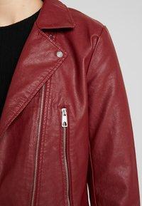 JDY - YONG JACQUELINE - Faux leather jacket - pomegranate - 5