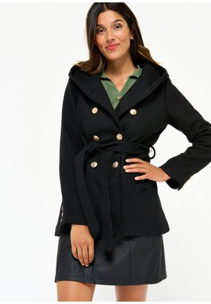 AND GOLDEN BUTTONS - Trenchcoat - black