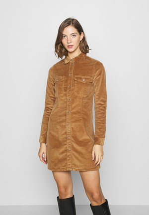 NMLISA BUTTON DRESS  - Day dress - toasted coconut