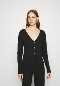 Nly by Nelly - BUTTON CARDIGAN SET - Cardigan - black - 2