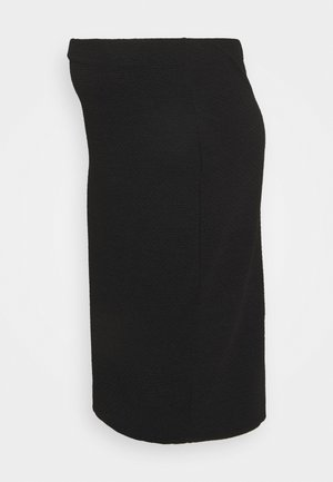 TEXTURED PENCIL MIDI SKIRT - Falda de tubo - black