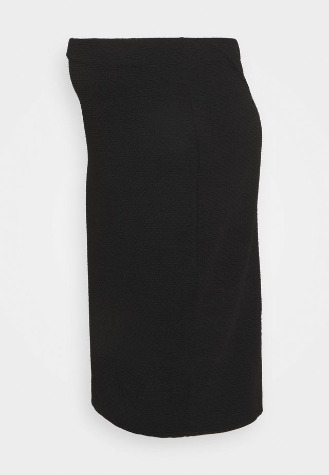 TEXTURED PENCIL MIDI SKIRT - Pencil skirt - black