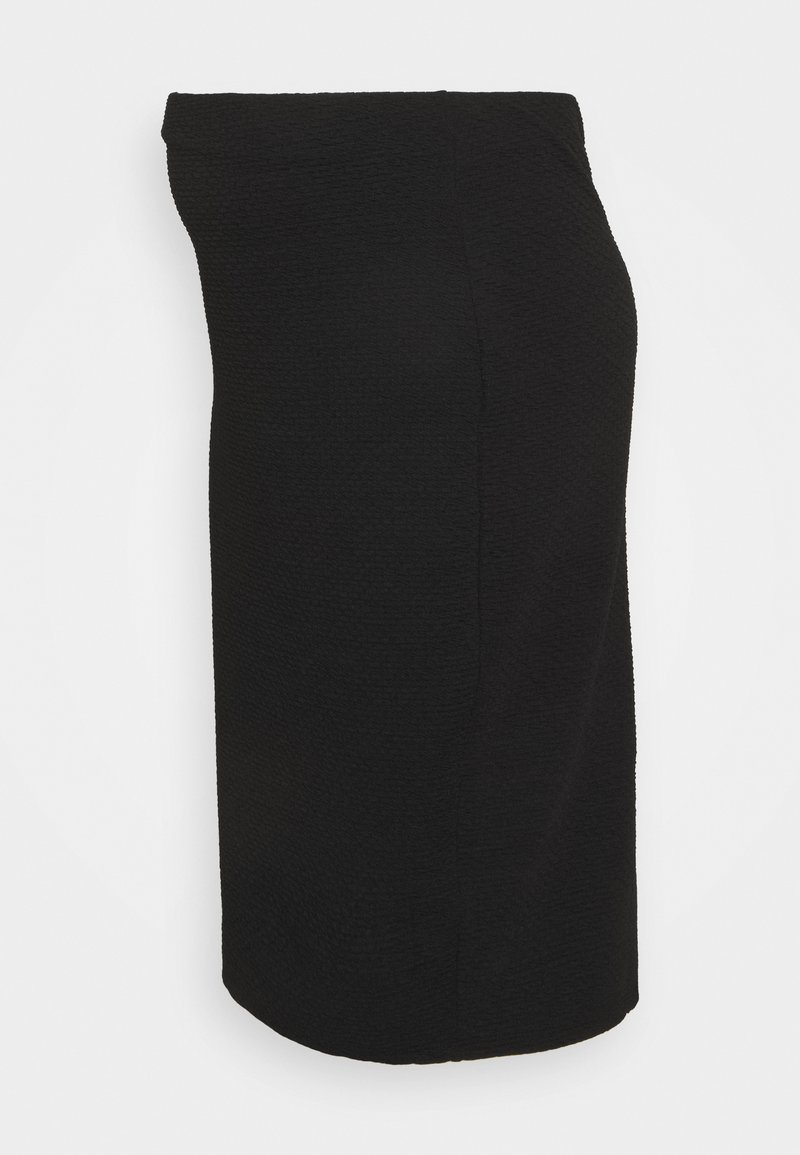 New Look Maternity - TEXTURED PENCIL MIDI SKIRT - Falda de tubo - black