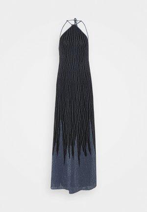 SLEEVELESS LONGDRESS - Occasion wear - black/powder blue