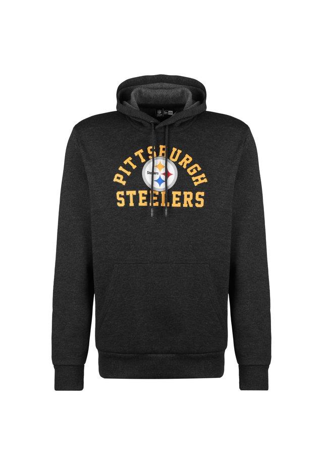 NFL PITTSBURGH STEELERS WORDMARK KAPUZENPULLOVER HERREN - Hættetrøjer - graphite heather