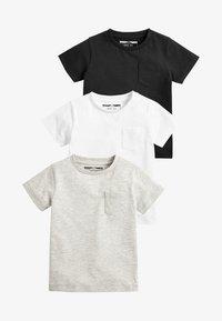 Next - 3PACK - T-shirt basic - black - 0