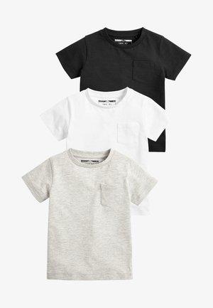 3PACK - Basic T-shirt - black