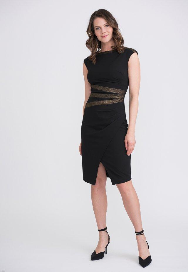 Shift dress - schwarz/gold