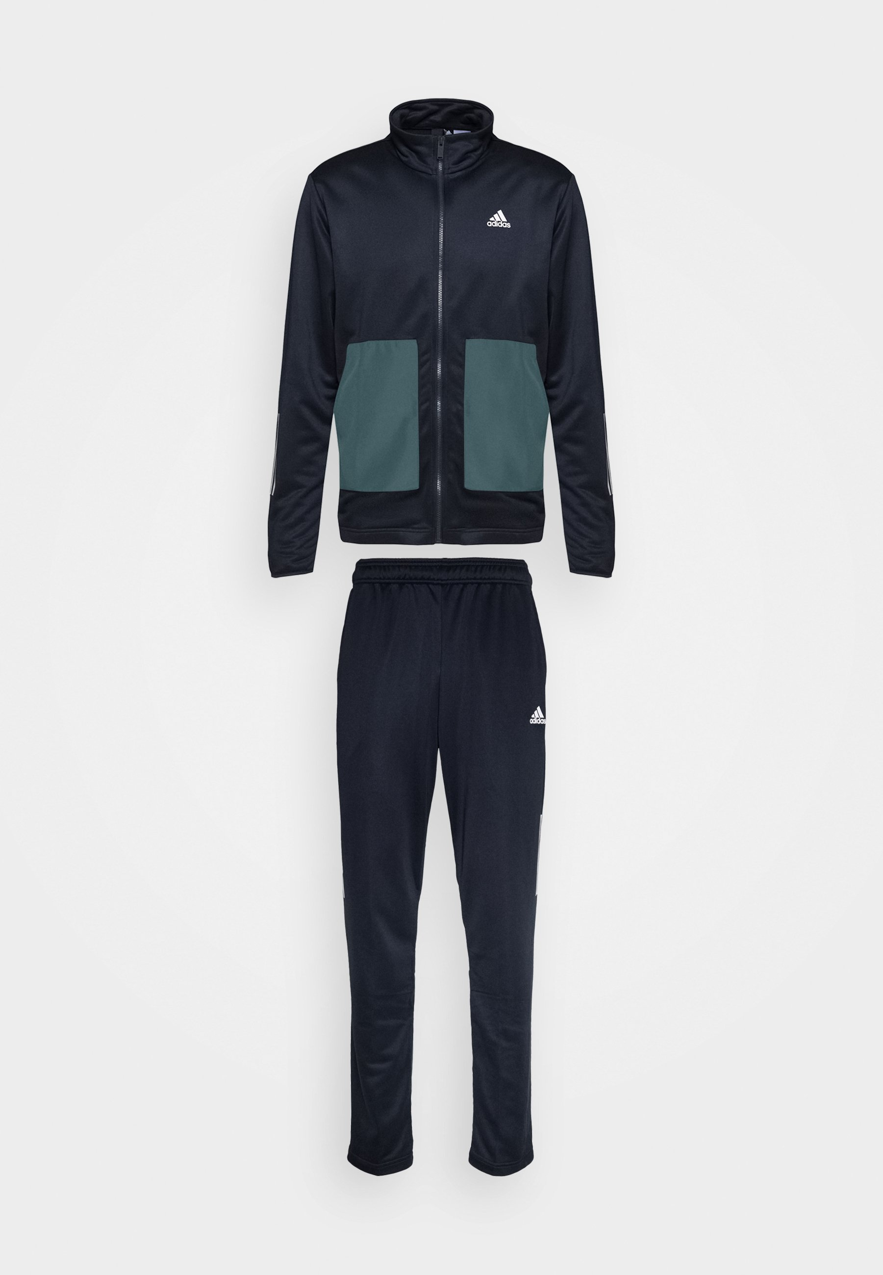 Adidas Performance Fabric Mix Aeroready Sports Tracksuit - Treningsdress Dark Blue/mørkeblå