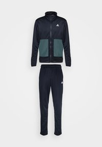 adidas Performance - FABRIC MIX AEROREADY SPORTS TRACKSUIT - Tracksuit - dark blue - 6