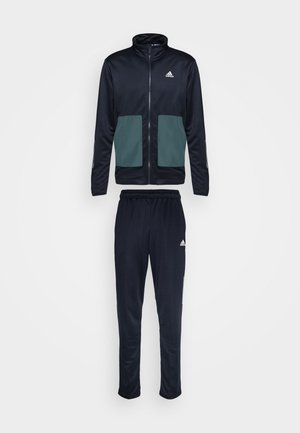 FABRIC MIX AEROREADY SPORTS TRACKSUIT - Tracksuit - dark blue
