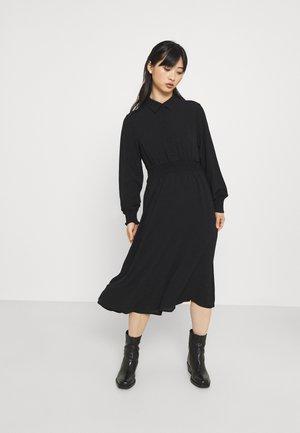 VMSAGA SMOCK CALF DRESS - Shirt dress - black