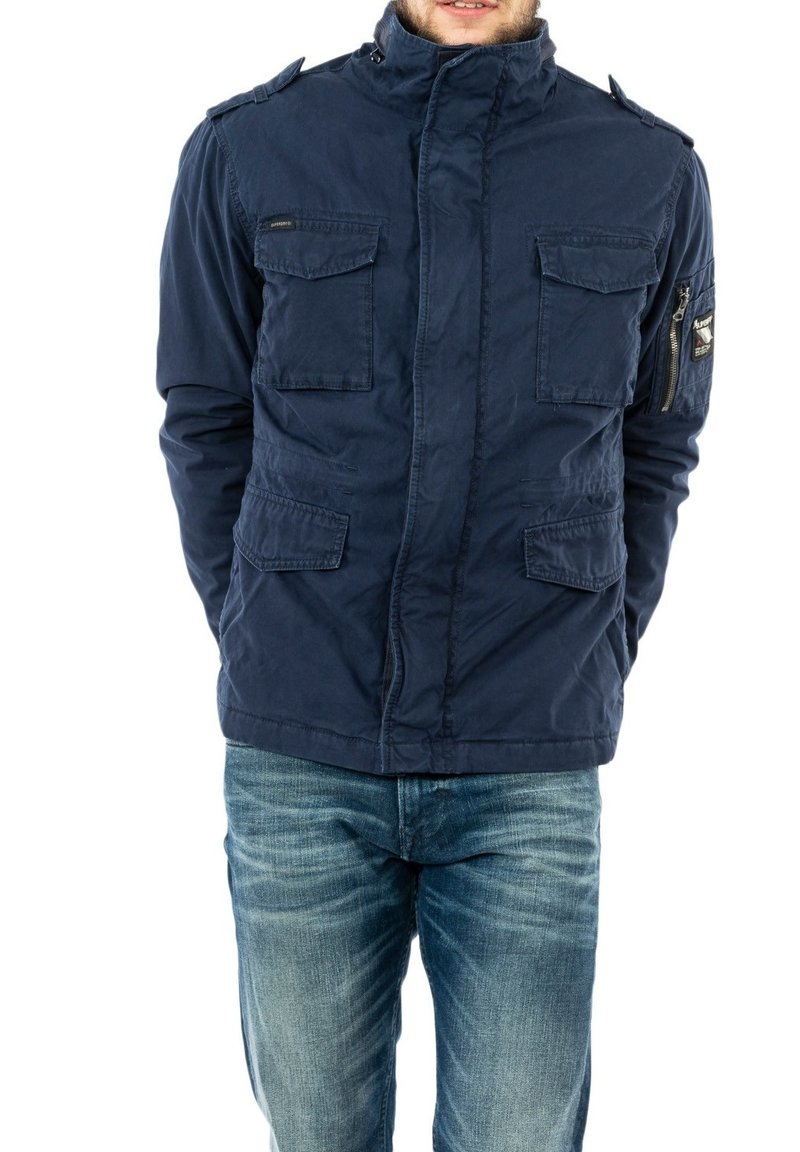 Superdry - Winter jacket - bleu