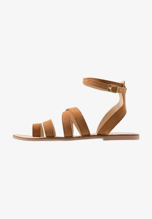 FUEGO - T-bar sandals - cognac