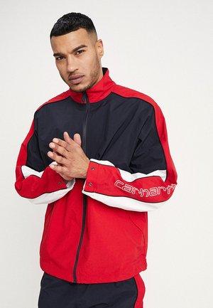 Training jacket - dark navy/cardinal/white