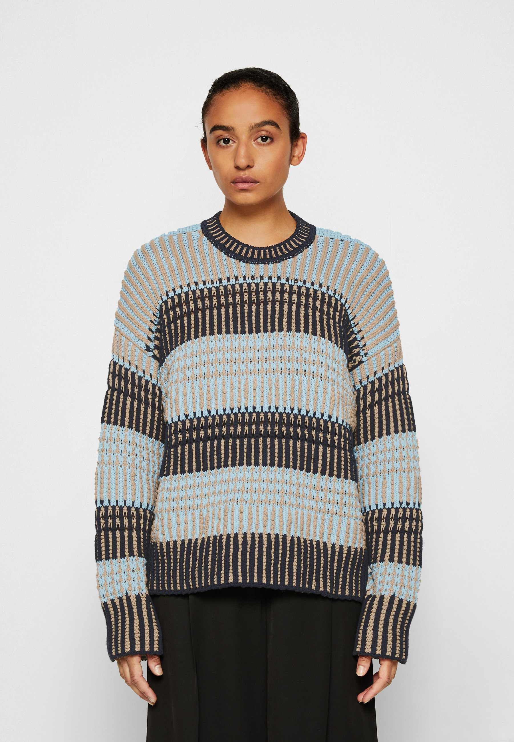 Femme BOLD STRIPED SWEATER - Pullover