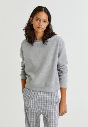 MIT RUNDAUSSCHNITT - Sweatshirt - light grey