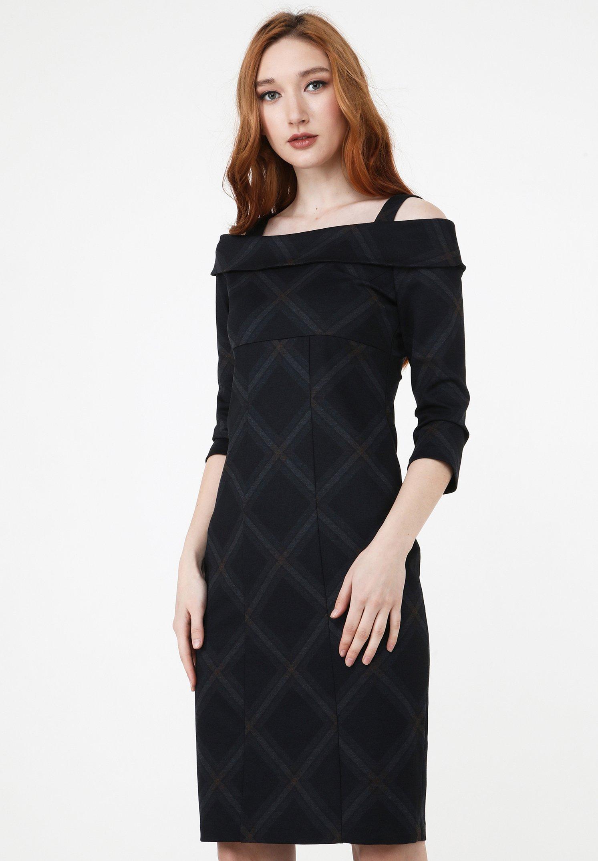 Madam T Altoona Cocktailkleid Festliches Kleid Schwarzgrau Schwarz Zalando De
