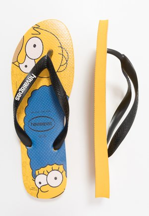 SIMPSONS - Pool shoes - banana yellow/ black