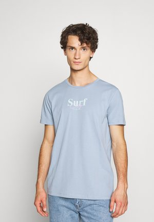 JORSANDER TEE CREW NECK - T-shirt print - ashley blue