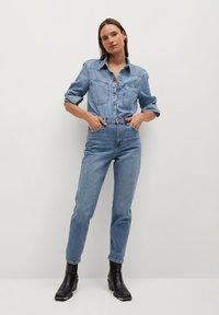 Mango - NEWMOM - Straight leg jeans - bleu moyen - 1