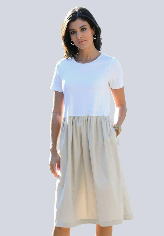 Day dress - off-white,beige